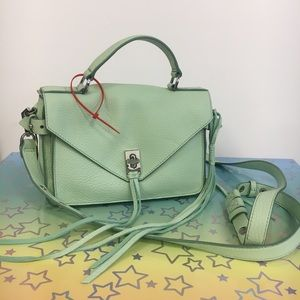 Rebecca minkoff mint too handle satchel nwot